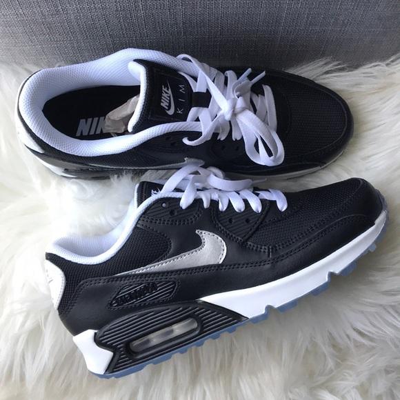 f8935e15ef9 Nike id air max 90 black custom women s shoes